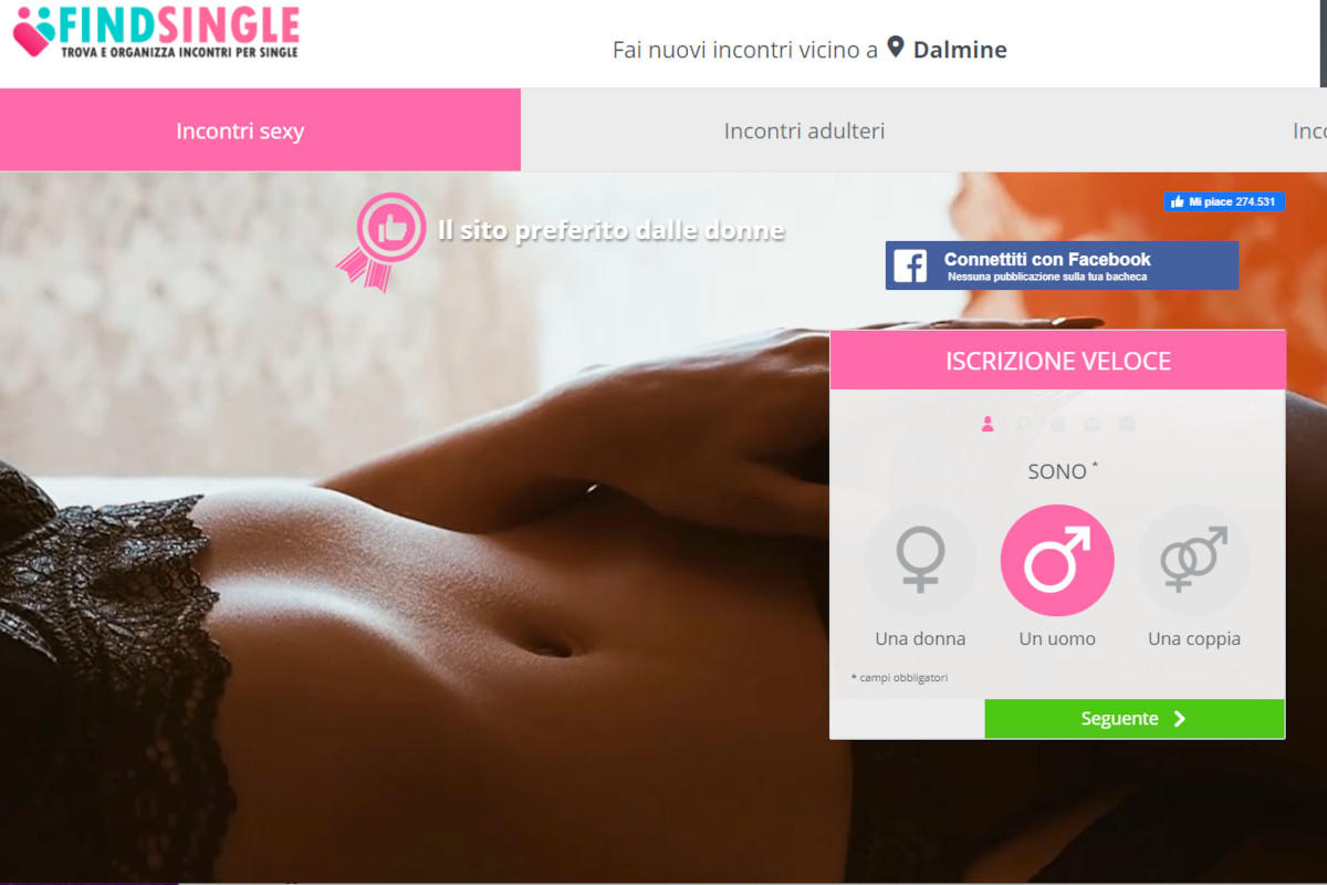 sito incontri per adulti findsingle.it